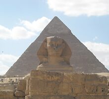 The Sphinx guarding the pyramids by Ciccio349