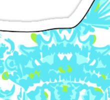 Corgi Sticker Lilly Pulitzer Inspired Print Sticker