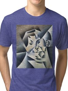 Juan Gris - Portrait Of Josette. Abstract painting: abstract art, geometric, expressionism, composition, lines, forms, creative fusion, spot, shape, illusion, fantasy future Tri-blend T-Shirt