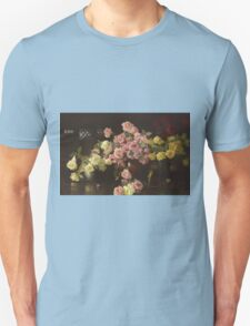 Joseph Rodefer Decamp - Still Life, Roses. Still life with flowers: still life with flowers, blossom, Rose, Roses, floral flora, wonderful flower, plants, cute plant for kitchen interior, garden, vase Unisex T-Shirt