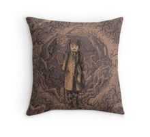 Around the Corner and on the Left Throw Pillow