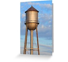 Metal Water Tower and Morning Sky Greeting Card