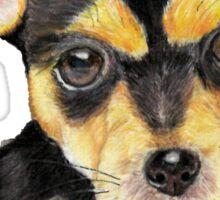Black Pup Sticker