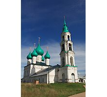church with green domes Photographic Print