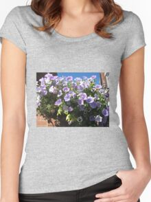 Mauve Is Pretty! Hanging Basket Women's Fitted Scoop T-Shirt