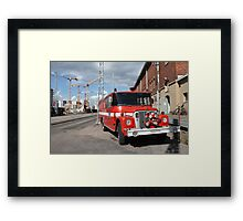 red fire engine  Framed Print