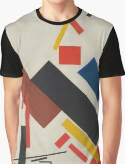 Kazimir Malevich - Stroyuschiysya Dom. Abstract painting: abstract art, geometric, expressionism, composition, lines, forms, creative fusion, spot, shape, illusion, fantasy future Graphic T-Shirt