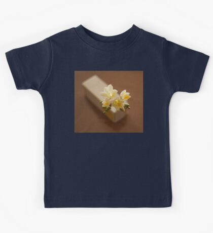 composition of white freesia flowers Kids Tee