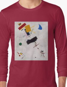 Kazimir Malevich - Suprematism. Abstract painting: abstract art, geometric, expressionism, composition, lines, forms, creative fusion, spot, shape, illusion, fantasy future Long Sleeve T-Shirt