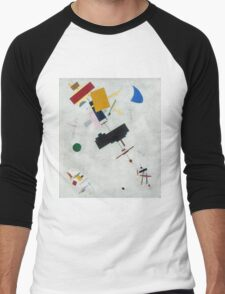 Kazimir Malevich - Suprematism. Abstract painting: abstract art, geometric, expressionism, composition, lines, forms, creative fusion, spot, shape, illusion, fantasy future Men's Baseball ¾ T-Shirt