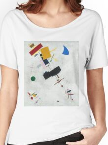 Kazimir Malevich - Suprematism. Abstract painting: abstract art, geometric, expressionism, composition, lines, forms, creative fusion, spot, shape, illusion, fantasy future Women's Relaxed Fit T-Shirt