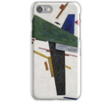 Kazimir Malevich - Untitled. Abstract painting: abstract art, geometric, expressionism, composition, lines, forms, creative fusion, spot, shape, illusion, fantasy future iPhone Case/Skin