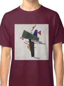 Kazimir Malevich - Untitled. Abstract painting: abstract art, geometric, expressionism, composition, lines, forms, creative fusion, spot, shape, illusion, fantasy future Classic T-Shirt