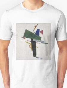 Kazimir Malevich - Untitled. Abstract painting: abstract art, geometric, expressionism, composition, lines, forms, creative fusion, spot, shape, illusion, fantasy future Unisex T-Shirt