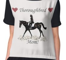Cute Thoroughbred Mom Horse Design Chiffon Top