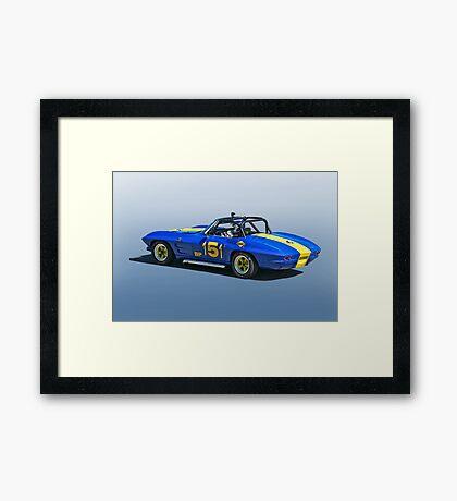1964 Corvette Vintage Racecar Framed Print