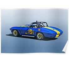 1964 Corvette Vintage Racecar Poster