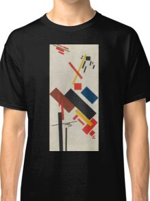 Kazimir Malevich - Stroyuschiysya Dom. Abstract painting: abstract art, geometric, expressionism, composition, lines, forms, creative fusion, spot, shape, illusion, fantasy future Classic T-Shirt
