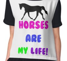 Colorful Horses Are My Life  Chiffon Top