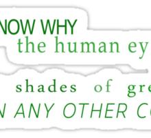 Shades of Green (UK) Sticker