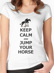 Keep Calm & Jump Your Horse  Women's Fitted Scoop T-Shirt