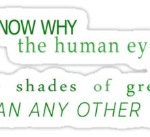 Shades of Green (US) Sticker