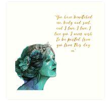 Pride and Prejudice Quote Art Print