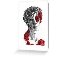 """Organic"" - sherlock portrait, colour highlighted version Greeting Card"
