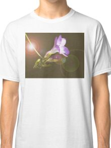 Purple freesia composition with lens flare Classic T-Shirt