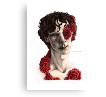 """Organic"" - sherlock portrait, full colour version Canvas Print"