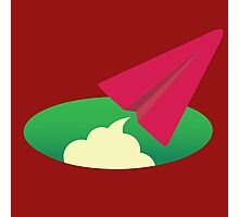 Red Paper Plane Icon Photographic Print