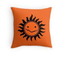 Superwholock - Orange Throw Pillow