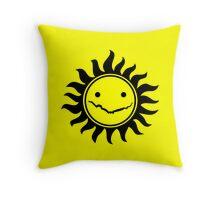 Superwholock - Yellow Throw Pillow