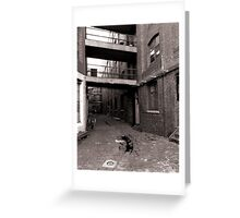 Black and White Alley Greeting Card