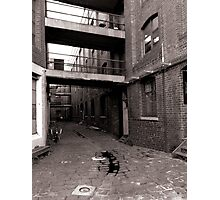 Black and White Alley Photographic Print