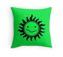 Superwholock - Green Throw Pillow