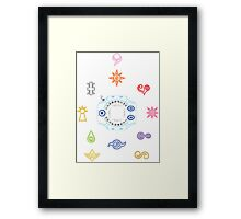 Digivice and Digicrest Framed Print