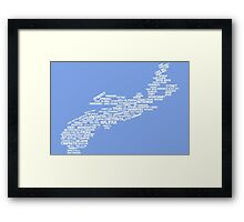 Nova Scotia Word Art Framed Print