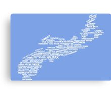 Nova Scotia Word Art Canvas Print