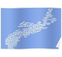 Nova Scotia Word Art Poster