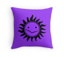 Superwholock - Purple Throw Pillow