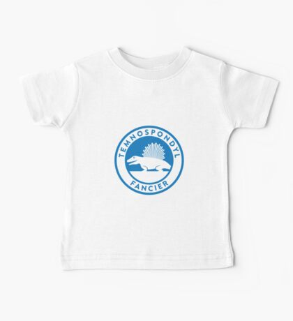 Temnospondyl Fancier Tee (Blue on White) Baby Tee