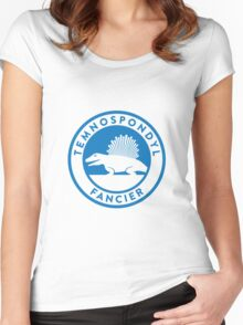 Temnospondyl Fancier Tee (Blue on White) Women's Fitted Scoop T-Shirt