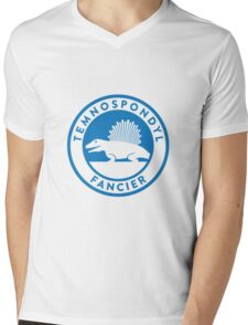 Temnospondyl Fancier Tee (Blue on White) Mens V-Neck T-Shirt
