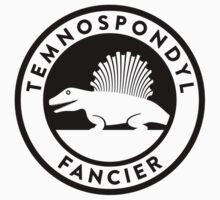 Temnospondyl Fancier Tee (Black on Light) by David Orr
