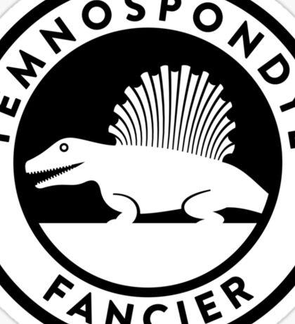Temnospondyl Fancier Tee (Black on Light) Sticker