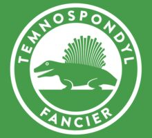 Temnospondyl Fancier Tee (White on dark) Kids Tee