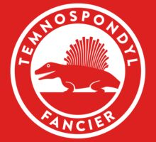 Temnospondyl Fancier Tee (White on dark) Kids Clothes