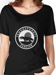 Temnospondyl Fancier Tee (White on dark) Women's Relaxed Fit T-Shirt