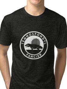 Temnospondyl Fancier Tee (White on dark) Tri-blend T-Shirt